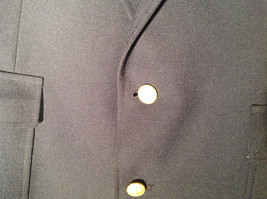 Dark Navy Blue Formal Suit Jacket by Bianchis Two Front Pockets Made in USA image 4