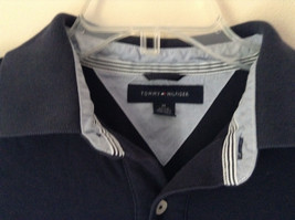 Dark Navy Blue Size Medium Short Sleeve Casual Shirt by Tommy Hilfiger Collared image 2