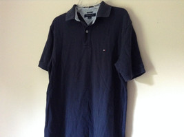 Dark Navy Blue Size Medium Short Sleeve Casual Shirt by Tommy Hilfiger Collared image 5