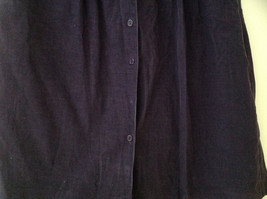Dark Purple Corduroy Button Up Skirt Angle Length Pleated Pockets NO TAG Size 16 image 3