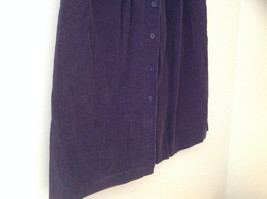 Dark Purple Corduroy Button Up Skirt Angle Length Pleated Pockets NO TAG Size 16 image 4