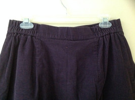 Dark Purple Corduroy Button Up Skirt Angle Length Pleated Pockets NO TAG Size 16 image 7