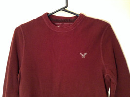 Dark Red American Eagle Outfitters Long Sleeve 100 Percent Cotton Top Size M image 2