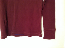 Dark Red American Eagle Outfitters Long Sleeve 100 Percent Cotton Top Size M image 3