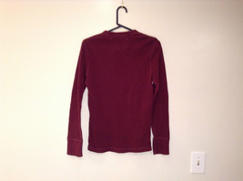 Dark Red American Eagle Outfitters Long Sleeve 100 Percent Cotton Top Size M image 5