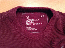 Dark Red American Eagle Outfitters Long Sleeve 100 Percent Cotton Top Size M image 7