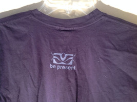Dark Purple Short Sleeve Be Present Logo on Front and Back Size XL image 5