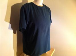 Dark Teal Short Sleeve Shirt Buttons at Back Neckline Jack Mulqueen Size Large image 2