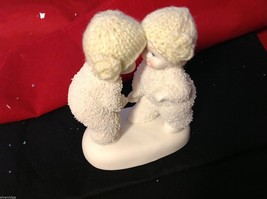 Department 56 snow babies 2013 real knit hats two babies BFF image 3