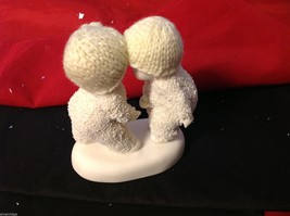 Department 56 snow babies 2013 real knit hats two babies BFF image 5
