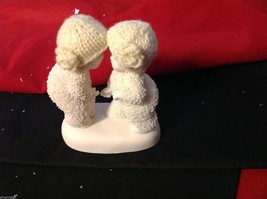 Department 56 snow babies 2013 real knit hats two babies BFF image 2