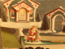Department 56 Snow Village Visit with Santa Start of the Season with trees image 4