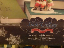 Department 56 Snow Village Visit with Santa Start of the Season with trees image 2