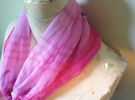 Dark and Light Pink Square Scarf with Purple and Pink Pattern Flowers on Corners image 4