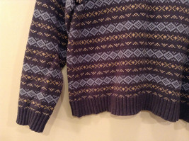Dark and Light Blue with Light Yellow V Neck Eddie Bauer Sweater Size XL image 4