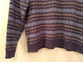 Dark and Light Blue with Light Yellow V Neck Eddie Bauer Sweater Size XL image 6