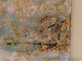Decorative Canvas Grand Canal Venice Artist L Mironova Vintage Russian Handmade image 3
