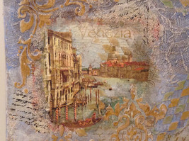 Decorative Canvas Grand Canal Venice Artist L Mironova Vintage Russian Handmade image 2