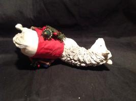 Decorative Horse Figurine White with Red Saddle Holding Christmas Items image 7
