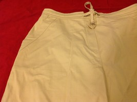 Denim & Co khaki pants women's size large image 2