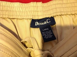 Denim & Co khaki pants women's size large image 3