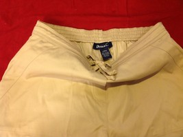 Denim & Co khaki pants women's size large image 4