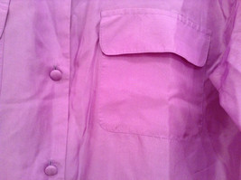 Denim and Company Size L Long Sleeve Lavender Button SILK Blouse image 4