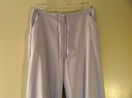 Denim Company Size Medium Light Purple Sweat Pants Elastic Waist String Tie image 2