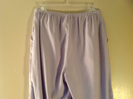 Denim Company Size Medium Light Purple Sweat Pants Elastic Waist String Tie image 4