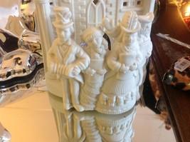 Dickens Partylite tea or votive light candle holder in ivory bisque vintage image 8