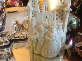 Dickens Partylite tea or votive light candle holder in ivory bisque vintage image 7