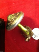 Department 56 Clip on mushroom moss footing in brown burgundy green ornament image 8