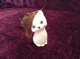 Department 56 Cute Kitten Cat ornament w real Knitted Hat cap color choice image 6