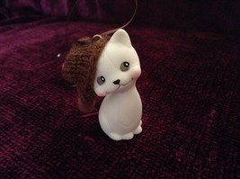 Department 56 Cute Kitten Cat ornament w real Knitted Hat cap color choice image 7
