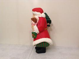 Department 56 Papier Mache Santa Figurine Hand Painted Collectable Vintage image 2