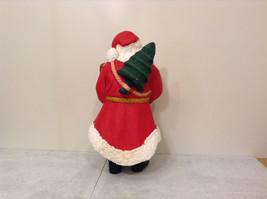 Department 56 Papier Mache Santa Figurine Hand Painted Collectable Vintage image 3