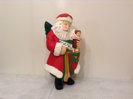 Department 56 Papier Mache Santa Figurine Hand Painted Collectable Vintage image 5