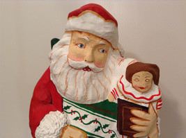 Department 56 Papier Mache Santa Figurine Hand Painted Collectable Vintage image 8