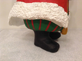 Department 56 Papier Mache Santa Figurine Hand Painted Collectable Vintage image 11