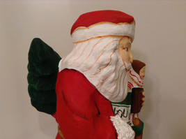 Department 56 Papier Mache Santa Figurine Hand Painted Collectable Vintage image 10