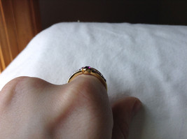 Double Purple CZ with Light Purple Accents Swirl Design Gold Planted Ring Size 7 image 7