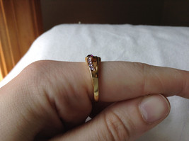 Double Purple CZ with Light Purple Accents Swirl Design Gold Planted Ring Size 7 image 5