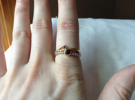 Double Purple CZ with Light Purple Accents Swirl Design Gold Planted Ring Size 7 image 6