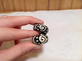 Dotted Swirl Design Wooden Ring Sizes 8 and 9.75 Sold Separately Handcrafted image 5