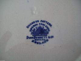 Dunn Bennett & Co Duchess Pattern Burslem England Dish blue and gold floral image 4