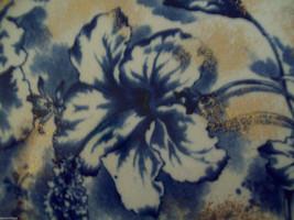 Dunn Bennett & Co Duchess Pattern Burslem England Dish blue and gold floral image 3