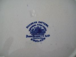 Dunn Bennett & Co Duchess Pattern Burslem England Dish blue and gold floral image 5