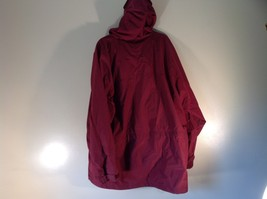 EMS Burgundy Zipper Closure Hood Hiking Camping Jacket Size XL 3 Front Pockets image 6