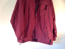 EMS Burgundy Zipper Closure Hood Hiking Camping Jacket Size XL 3 Front Pockets image 3