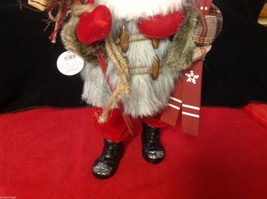 Department 56 Tall Collector's Santa embellished red winter w skis boots snow image 3